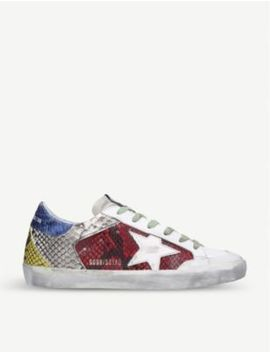 Superstar R69 Snakeskin Print Leather Trainers by Golden Goose