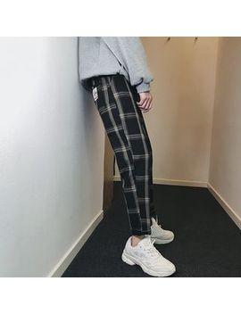Lazi Boi   Check Slim Fit Pants by Lazi Boi
