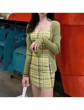 Monroll   Plaid Bodycon Mini Dress by Monroll