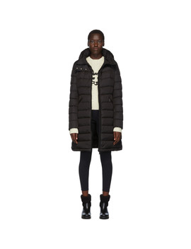 Black Down Flammette Coat by Moncler
