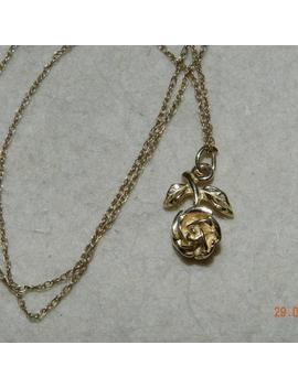 Pendant Necklace Rose Gold 9ct Art Deco Desine 2.84grm 0.1oz Vintag by Etsy