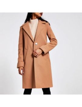 Petite Beige Long Sleeve Coat by River Island