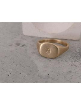 Personalized Ring, Statement Ring, 14k Gold Ring, Statement Jewelry, Gold Signet Ring, Seal Ring, Engraved Ring, Letter Ring, Ring For Women by Etsy