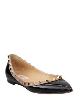 Valentino Garavani Rockstud Patent Ballet Flats by Valentino Garavani