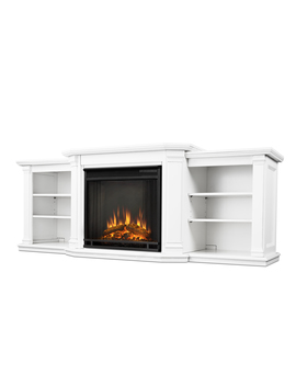 Valmont Entertainment Center Electric Fireplace In White By Real Flame by Real Flame