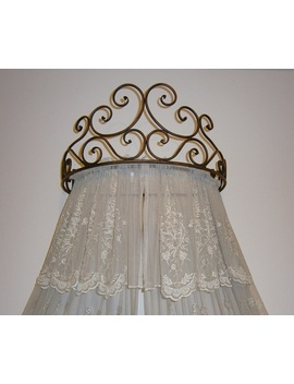 "Octorose Metal Wall Teester Bed Canopy Drapery Crown Hardware (Cherry(24.75""Wx16.75""Dx11""H.)) by Octo Rose"