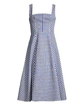 Byancca Sleeveless Gingham Dress by Shoshanna