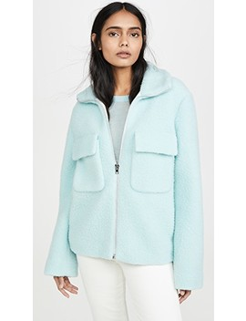 Teddy Faux Fur Bomber by Helmut Lang