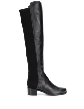 45mm Panelled Knee Length Boots by Stuart Weitzman