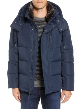 Baltic Faux Fur Trim Down & Feather Fill Parka by Marc New York