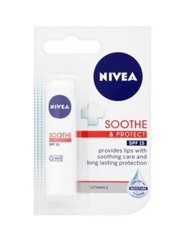 Nivea Lip Balm Soothe & Protect Spf15 For Dry Lips 4.8g by Nivea
