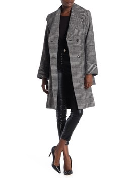 Belted Double Breasted Wool Blend Coat by Nine West