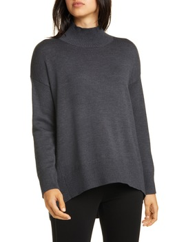 Mock Neck Oversize Sweater by Eileen Fisher