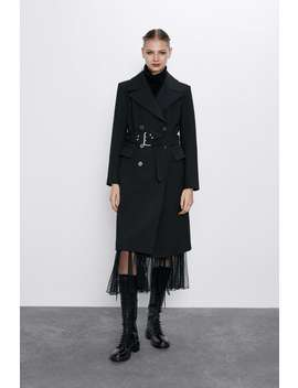 Belted Double Breasted Coat by Zara