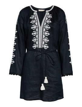 Embroidered Linen Cover Up Tunic by Tory Burch