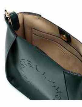 Stella Logo Faux Leather Shoulder Bag by Stella Mc Cartney