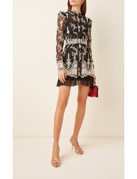Hilaria Lace Embroidered Tulle Mini Dress by Alexis