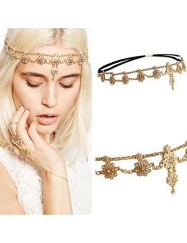 Flower Tassel Head Jewelry 2018 Women Fashion Elegant Rhinestone Elastic Head Chain Tiaras Bride Wedding Head Jewelry by Ali Express.Com