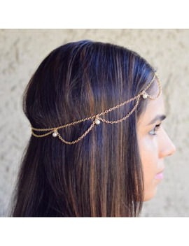 Imitation Pearls Head Chain Hair Jewelry Headbands Indian Boho Trendy Bride Hair Accesories Decoration Wedding Head Piece by Ali Express.Com