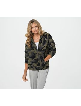 Barefoot Dreams Cozychic Camo Hoodie by Barefoot Dreams