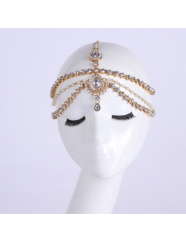 Handmade Kundan Stones Hair Chain Head Chain Head Jewellery by Ali Express.Com