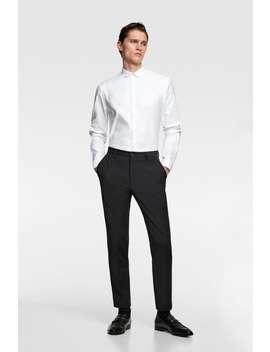 Round Neck Tuxedo Shirt by Zara