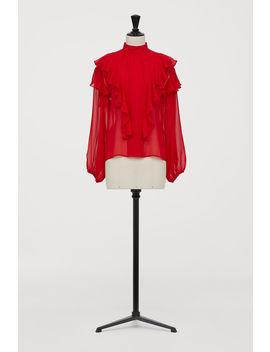 Блузка из шелкового шифона by H&M