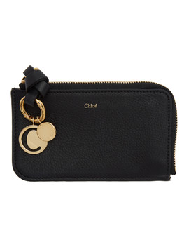 Black Alphabet Card Holder by ChloÉ
