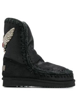 Eskimo Crystal Embellished Boots by Mou