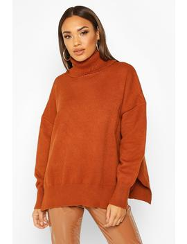 Premium Oversized Roll Neck Jumper by Boohoo