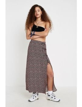 Uo Floral Tie Side Midaxi Skirt by Urban Outfitters