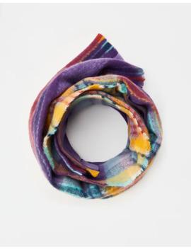 Фиолетовый шарф в клетку by Pull & Bear