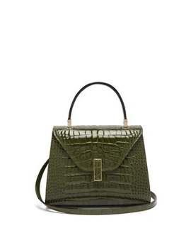 Iside Mini Crocodile Leather Bag by Valextra