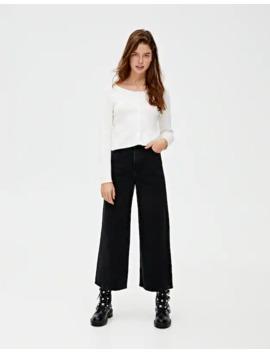 Базовые цветные джинсы кюлоты by Pull & Bear