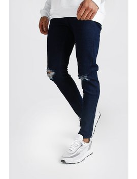 Skinny Jeans With Rip Knees by Boohoo