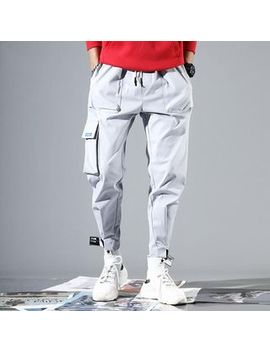 Duckle Beam   Drawstring Cropped Cargo Harem Pants by Duckle Beam