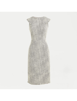 Petite Cap Sleeve Sheath Dress In Metallic Tweed by J.Crew