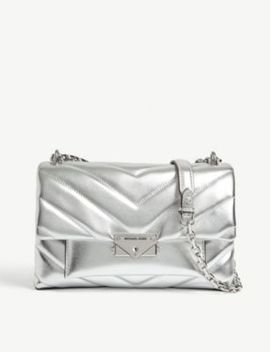 Cece Quilted Metallic Leather Shoulder Bag by Michael Michael Kors