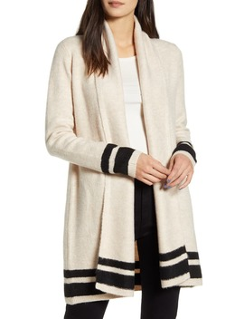Hank Stripe Shawl Collar Cardigan by Cupcakes And Cashmere