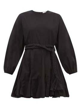 Ella Godet Skirt Cotton Voile Mini Dress by Rhode