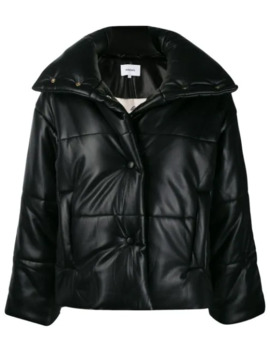 Hide Vegan Leather Puffer Jacket by Nanushka