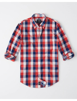 Check Poplin Shirt by Abercrombie & Fitch