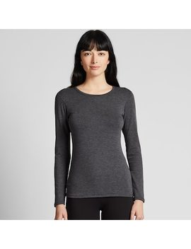Women Heattech Ultra Warm Crew Neck Thermal Top (14) by Uniqlo