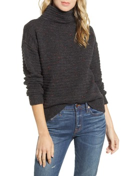 Belmont Donegal Mock Neck Sweater by Madewell