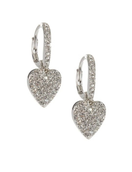Heart Drop Pave Earrings by Nadri