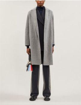 Fertile Notch Lapels Wool Blend Coat by S Max Mara