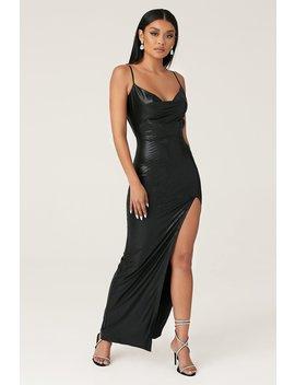 Kaila Cowl Neck Maxi Dress   Black by Meshki