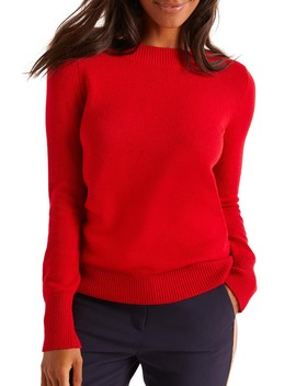 Peggy Button Cuff Sweater by Boden