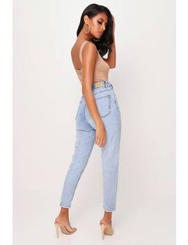 Light Blue High Waist Bleached Jeans by I Saw It First