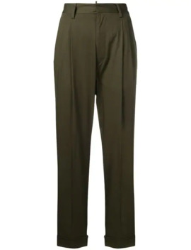 High Waisted Cropped Trousers by Dsquared2